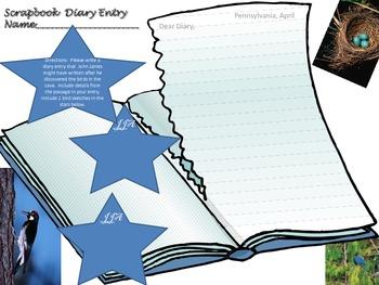 "McGraw Hill Wonders -5th ""The Boy Who Drew Birds"" Diary Scrapbook activity"