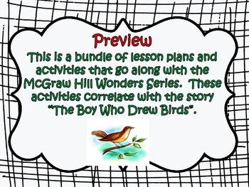 McGraw Hill Wonders, 5th - The Boy Who Drew Birds Lesson Plan Bundle