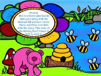 McGraw Hill Wonders, 5th - The Case of the Missing Bees Lesson Plan Bundle
