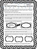 5th - The Story of Snow Text Dependent Questions