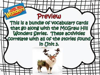 McGraw Hill Wonders, 5th Unit 3 Vocabulary Cards Bundle