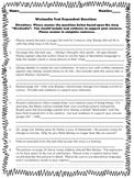 5th - Weslandia Text Dependent questions