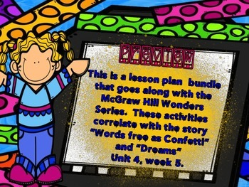 McGraw Hill Wonders, 5th - Words Free as Confetti Lesson Plan Bundle