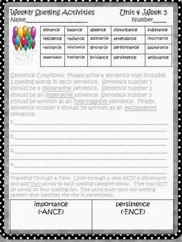 McGraw Hill Wonders, 5th - Words Free as Confetti Spelling Activity Sheet