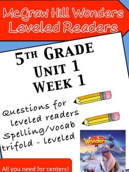 McGraw Hill Wonders 5th grade Unit 1 Wk 1