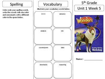 McGraw Hill Wonders 5th grade Unit 1 Wk 5