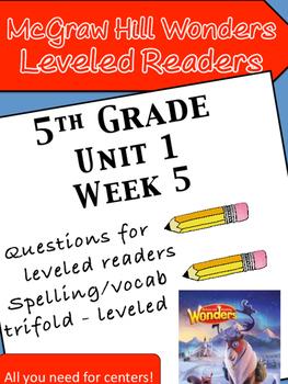 McGraw Hill Wonders 5th grade Unit 1 Wk 5