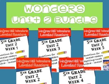 McGraw Hill Wonders 5th grade Unit 2 - Bundle