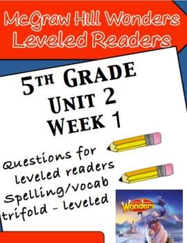 McGraw Hill Wonders 5th grade Unit 2 Wk 1