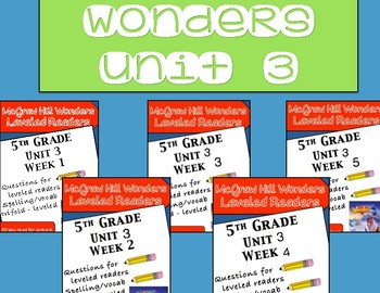 McGraw Hill Wonders 5th grade Unit 3 - Bundle