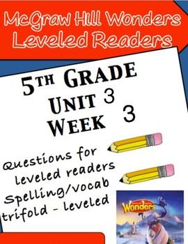 McGraw Hill Wonders 5th grade Unit 3 Wk 3