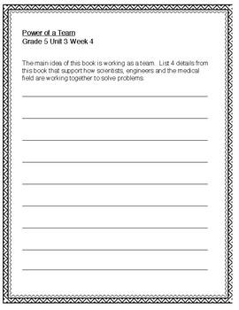 McGraw Hill Wonders 5th grade Unit 3 Wk 4
