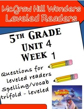 McGraw Hill Wonders 5th grade Unit 4 Wk 1