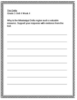 McGraw Hill Wonders 5th grade Unit 4 Wk 4