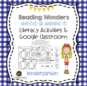 McGraw Hill Reading Wonders Kindergarten Activities Unit 2 Week 1
