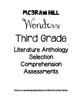 McGraw-Hill Wonders Anthology Assessments Unit 3