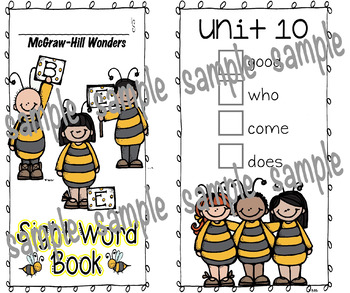 McGraw-Hill Wonders, BEE Sight Word Book