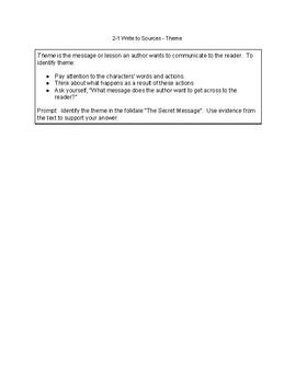 McGraw-Hill Wonders CA Grade 4, Unit 2 Write to Sources Graphic Organizer2