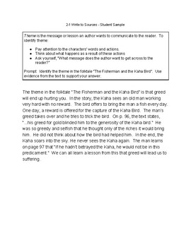 McGraw-Hill Wonders CA Grade 4, Unit 2 Write to Sources Graphic Organizer2
