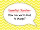 McGraw-Hill Wonders Curriculum-Grade 4, Unit 3, Week 4 Focus Wall