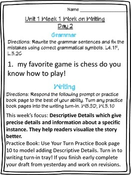 McGraw-Hill Wonders Daily Writing and Grammar Practice