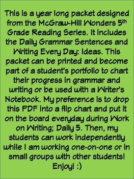 McGraw-Hill Wonders Daily Writing and Grammar Practice Unit 2