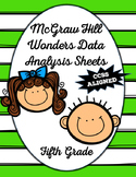 McGraw-Hill Wonders Data Analysis Sheets
