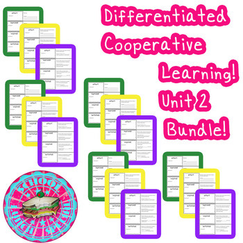 McGraw-Hill Wonders Differentiated Vocabulary Cards Unit 2 Bundle