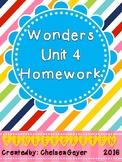 McGraw Hill - Wonders - EDITABLE Homework Packet - Unit 4
