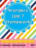 McGraw Hill - Wonders - EDITABLE Homework Packet - Unit 7