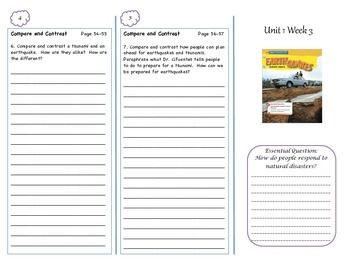 McGraw-Hill Wonders Earthquakes Trifold