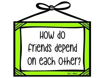 Wonders Weekly Essential Questions 2nd Grade