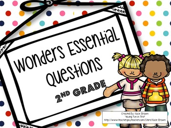 McGraw-Hill Wonders Essential Questions- 2nd Grade