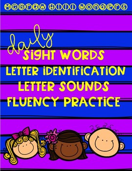 McGraw Hill Wonders FREEBIE - Sight Words, Letter Identification, Letter Sounds
