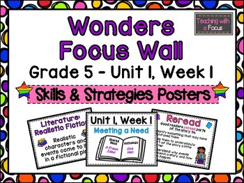 McGraw-Hill Wonders Fifth Grade Focus Wall