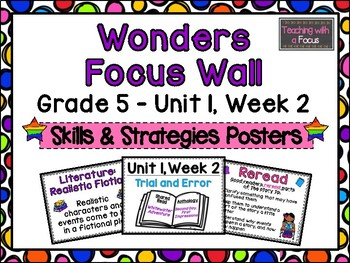 McGraw-Hill Wonders Fifth Grade Focus Wall