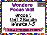 McGraw-Hill Wonders Fifth Grade Focus Wall - Unit 2 Bundle