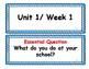 Wonders First Grade Focus Wall Units 1-6