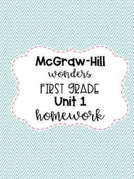 McGraw-Hill Wonders First Grade Homework Unit 4