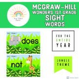 McGraw-Hill Wonders First Grade Jungle Themed Sight Words