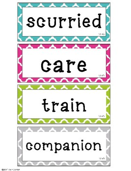 McGraw-Hill Reading Wonders Common Core 1st Grade Oral Vocabulary Word Cards