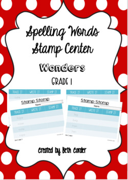 McGraw-Hill Reading Wonders 1st Grade Spelling Words Stamp Center Units 1-6