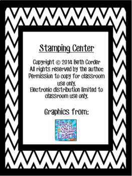 1st Grade Spelling Words Stamp Center to Correlate with Wonders Units 1-6