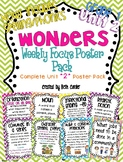 First Grade Weekly Focus Wall Posters to Correlate with Wonders - UNIT 2