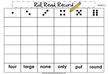 McGraw-Hill Wonders First Grade Unit Five Roll, Read, Record