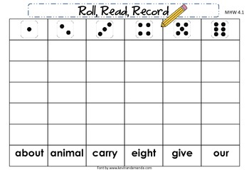 McGraw-Hill Wonders First Grade Unit Four Roll, Read, Record