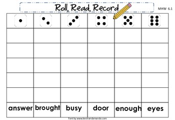 McGraw-Hill Wonders First Grade Unit Six Roll, Read, Record