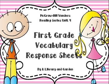 Wonders First Grade Vocabulary Response Unit 4: Animals Ev