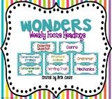 {Freebie!} Wonders Weekly Focus Wall HEADINGS / HEADERS