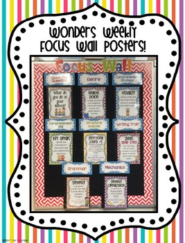 McGraw-Hill Reading Wonders First Grade Weekly Focus Wall Posters - UNIT 1
